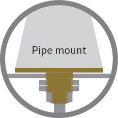 This image has an empty alt attribute; its file name is pipe-mount.jpg