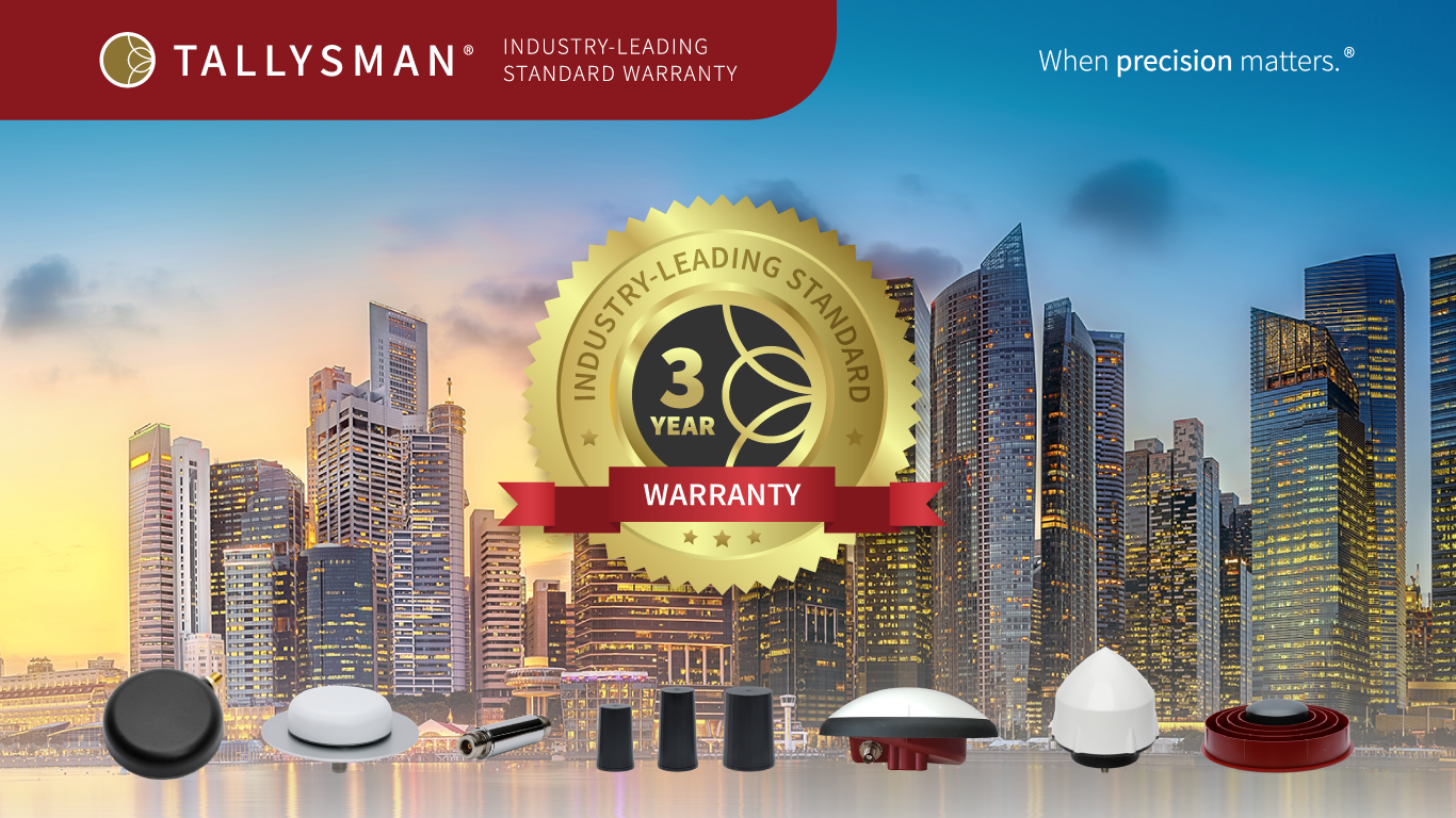 Tallysman® Announces Industry-Leading 3-Year Standard Warranty on All Housed GNSS Antennas and RF Accessories